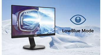 Режим LowBlue для продуктивности и защиты глаз